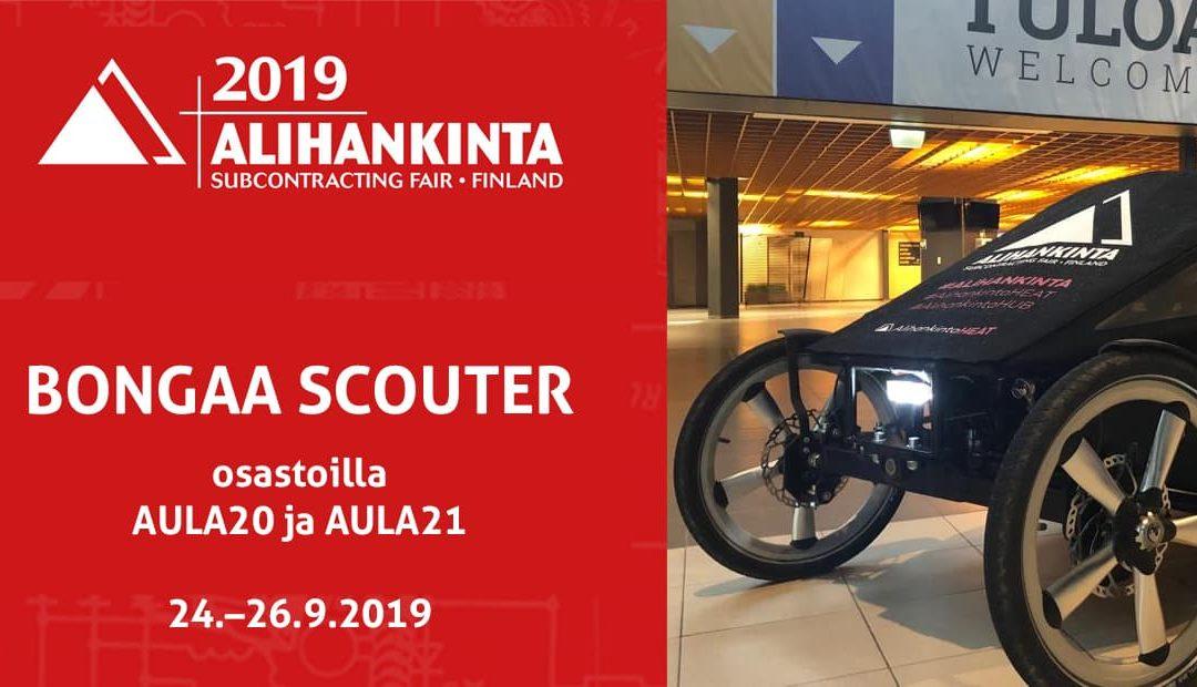 Bongaa Scouter Alihankinta 2019 -messuilla
